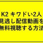 「K2 キワドい2人」見逃し配信動画を無料視聴する方法