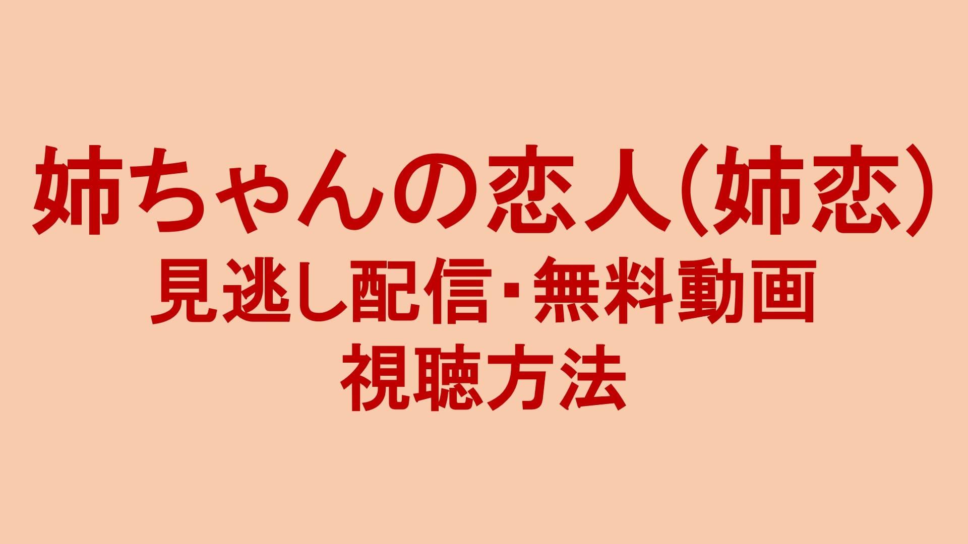 姉ちゃんの恋人(姉恋) 見逃し配信動画・無料視聴方法